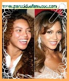 Parecidos con famosos: Beyoncé sin maquillaje