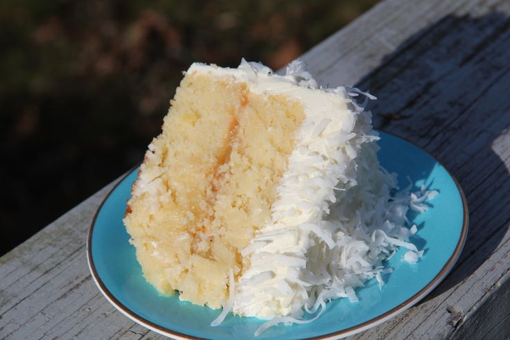 Coconut Cake w/ Pineapple Filling