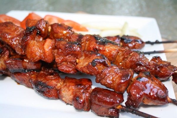 Every stick of pork has combined flavors of the sweet, savory and spicy. T