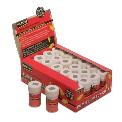 The CARASELLE Fumite Insect Killer  A small canister which, when lit, dispenses a smoke which kills insects in the area it is used in Ready to use - does not require mixing or application equipment Smoke is non-tainting & leaves no residue colour For thorough treatment of houses & storage areas etc  http://www.caraselledirect.com/_/the_fumite_insect_killer_permethrin_smoke_generator_35g_size.1765-1  #insectkiller #pestcontrolsmoke