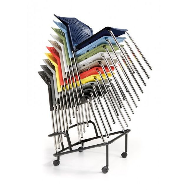 Nete office chair range. Dolly trolley which is ideal to move the Nete stackable chairs around.  http://www.endoofficefurniture.com.au/products/office-chairs-and-seating/visitor-and-meeting-chairs/nete-visitor-chair