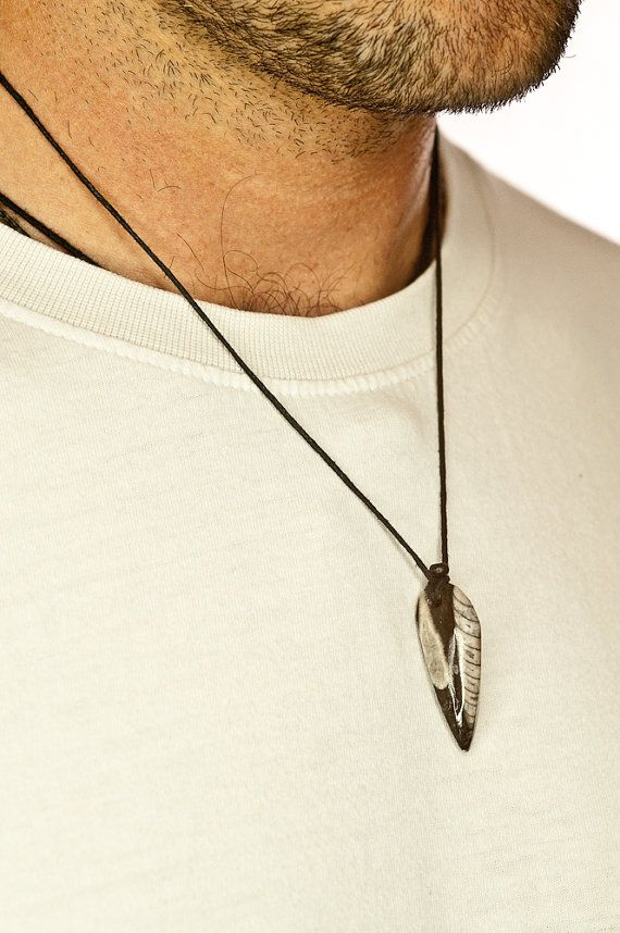 Genuine Fossil  Pendant For Him For Man Orthoceras by DevikaBox, $23.00