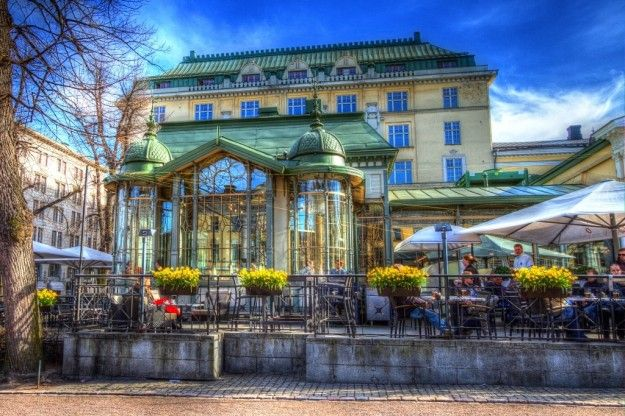 Un caffè all aperto ad Helsinki
