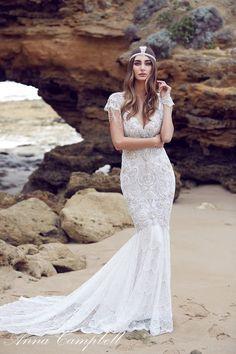 casamento moda anna campbell chic tendência vestido de noiva praia 2016 hippie bordado boho