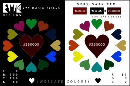 "Eva Maria Keiser Designs: Explore Color: ""Very Dark Red"" (Websafe Color)"