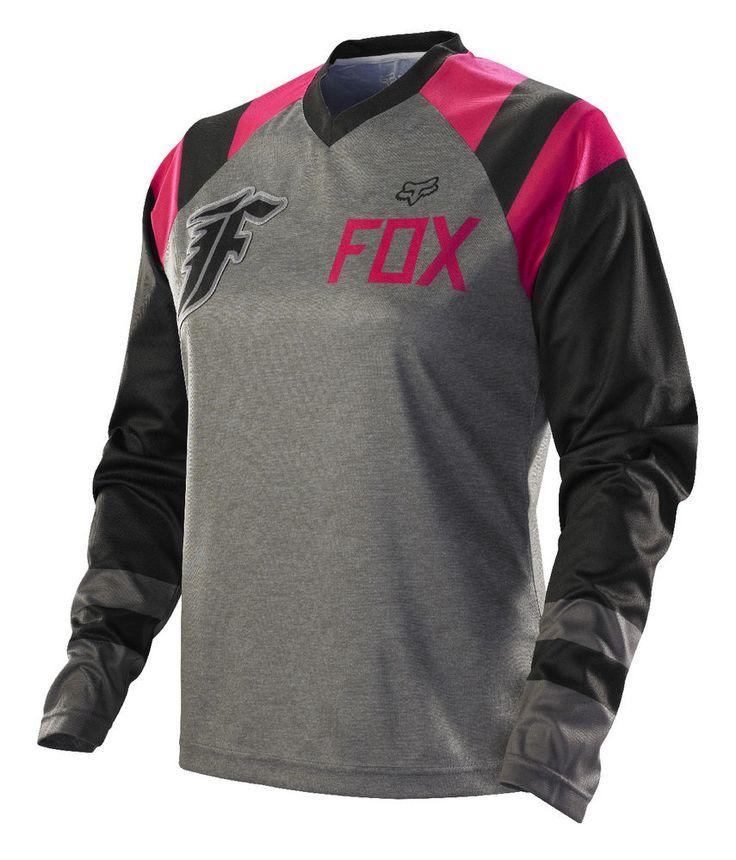 Fox Racing Womens Switch Rival Grey Pink Dirt Bike Jersey Motocross MX ATV 2014