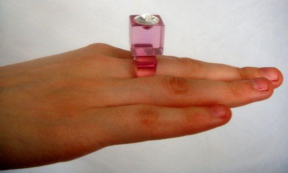 Ring spirited sixties kitsch lucite