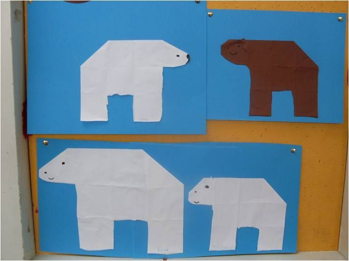 Beren vouwen, 16 vierkantjes
