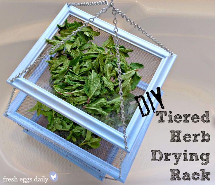 DIY: Tiered Herb Drying Rack