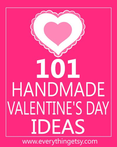 101 Handmade Valentine's Day Ideas ~ some creative tutorials, free printables and just plain fabulous ideas to help make your Valentine's Day extra sweet this year! There's a little something for your home, gifts for friends and ideas for your children to share at school.  It doesn't have to cost you a ton to make Valentine's Day super fun.