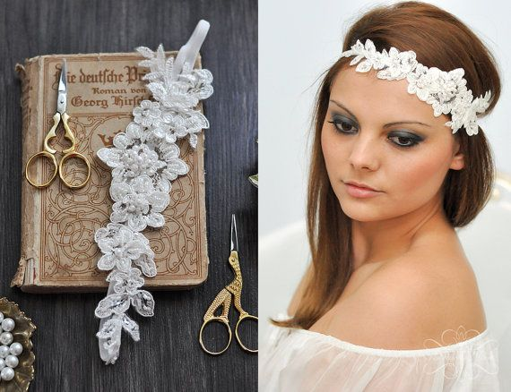 Hey, I found this really awesome Etsy listing at https://www.etsy.com/listing/218444719/vintage-headpiece-lace-hairband-headband