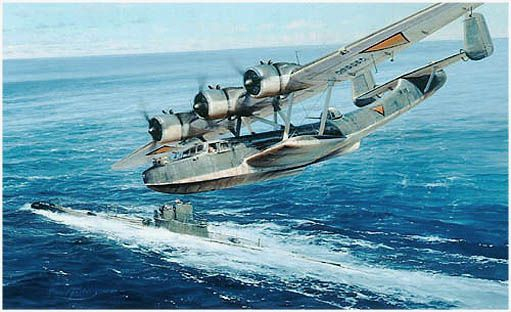 Chance Encounter by Robert Taylor A Dornier 24 flying boat of the Royal Netherlands Navy sights the Japanese invasion fleet off Kuching, Br...