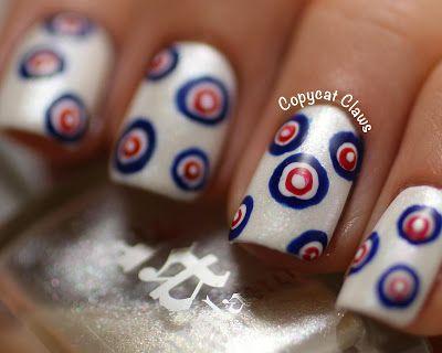 Hurry Hard! Curling (The Sport) Nails via CopycatClaws.Blogspot.Com