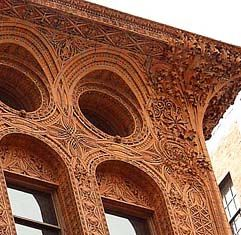 Terra-cotta detail from Louis Sullivan's Guaranty Building, Buffalo New York. 1896