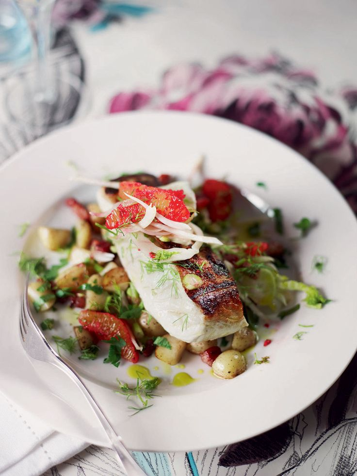 Planning an evening for two? This delicious crisp-skinned halibut makes a refreshing main course.