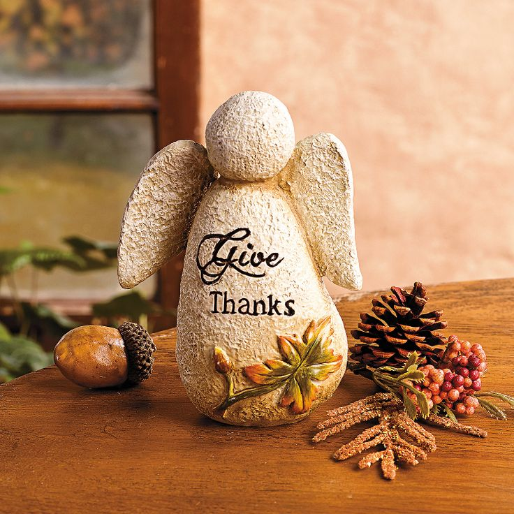 Give Thanks Angel - TerrysVillage.com: Give Thanks, Glorious Angels, Fall Decor, Thanksgiving Decor, Fall Halloween Thanksgiving, Christmas Ideas