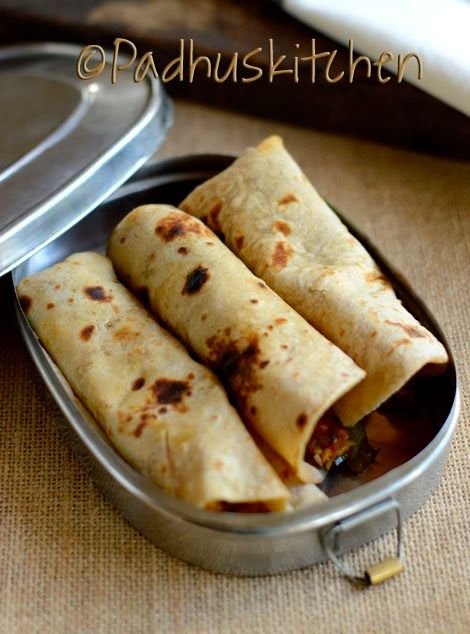 Chapati Rolls-Vegetable Paneer Chapati Rolls Recipe-Lunch Box Ideas for Work,School (Indian)