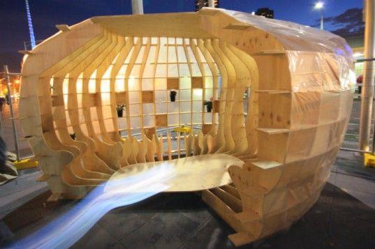 BVN Architecture Unveils 3D Puzzle Emergency Shelter at Melbourne Exhibition