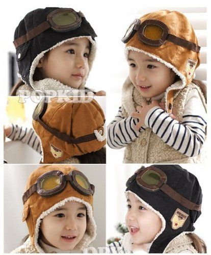 Child's Wool Pilot Style Cap with Ear Flaps Only $3.95 + FREE Shipping!