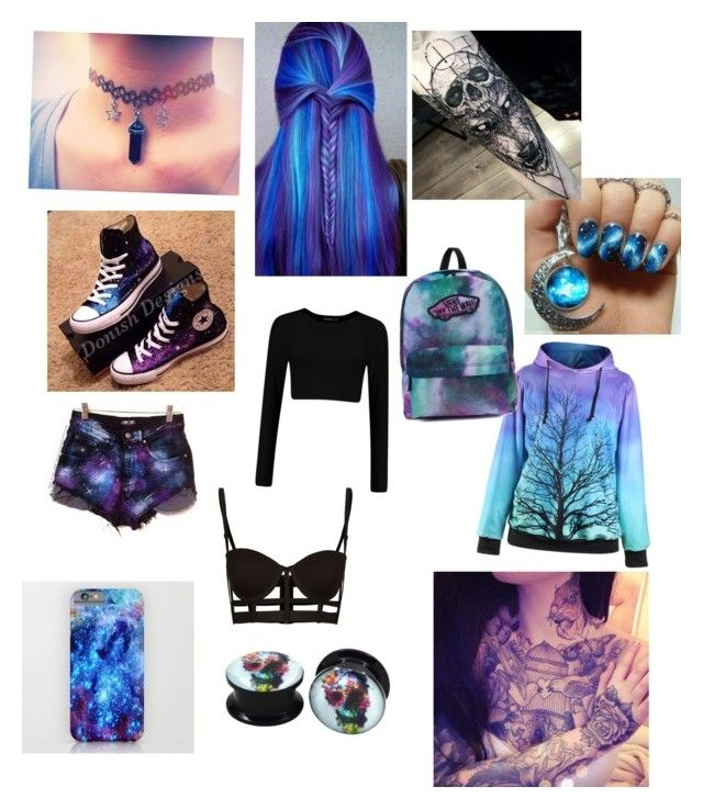 """Galaxy outfit 1"" by samwaller on Polyvore featuring Converse and Vans"