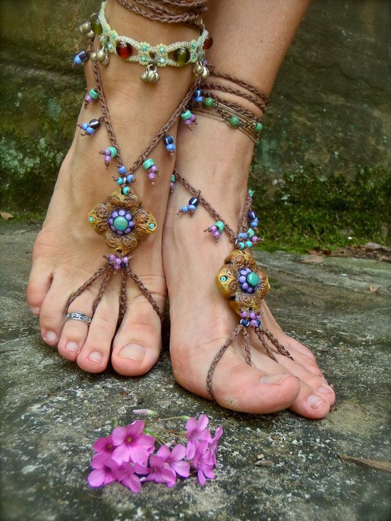 HULA HOOPING BAREFOOT sandals mustard yellow Brown belly by GPyoga, $66,00: Sandals Beaches, Hula Hooping, Hoop Barefoot, Foot Jewelry, Belly Dance, Barefoot Sandals, Beaches Sandals, Jewelry Nudes, Dance Yoga