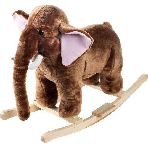 Happy Trails Plush Rocking Mo Mammoth With Sounds - Brown -- Find out @