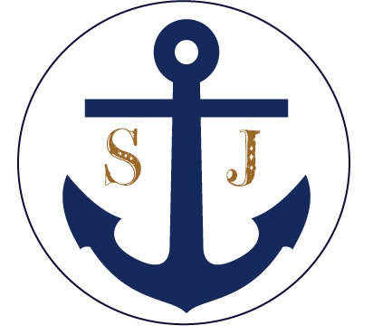 Personalized Treat Bag Wedding Stickers - Nautical-Anchor - Favors, Buffets, Packaging. $3.75, via Etsy.