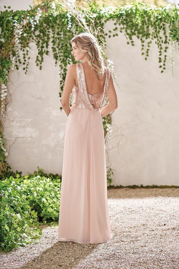 Pale Pink Sequin Bridesmaid Dress