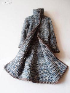Handmade sweater coat, not a pattern. Inspiration. Beautiful!
