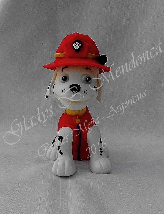 patrulla canina - modelado porcelana fria