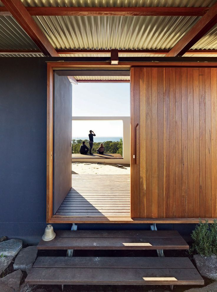 House (Aus) designed by Fergus Scott | wood + corrugated iron