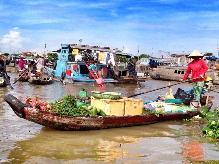 """Petit tour au marché flottant de Can Tho - Carnet de voyage """"Vietnam du sud"""""""