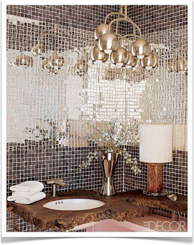 Fashion And Interior Design  Fallu0027s Hottest Trends. Tiled BathroomsBathroom  MirrorsBathrooms ...