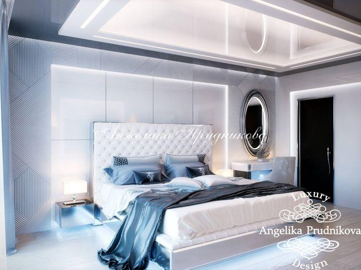 Дизайн интерьера спальни в стиле Модерн в ЖК Айвазовский