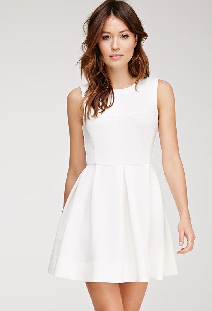 Scuba Knit A-Line Dress - Dresses - 2000078988 - Forever 21 EU