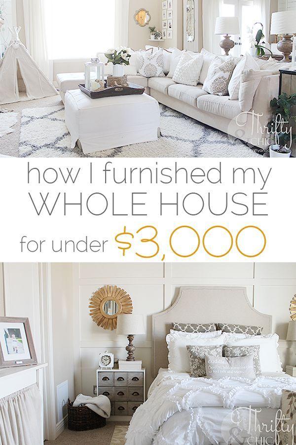 Wie ich mein Haus für unter 3000 Dollar eingerich…