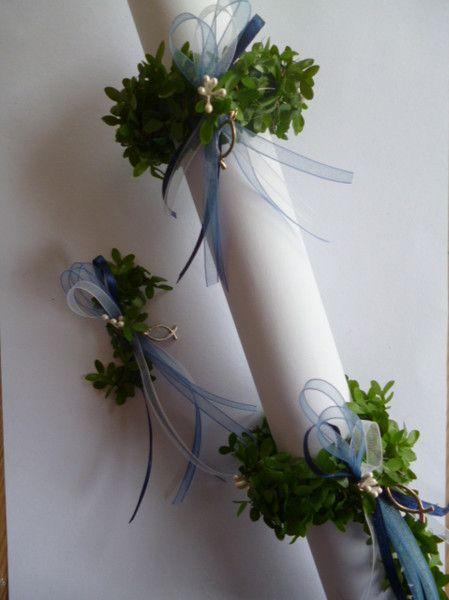 Tropfschutz Kerzenrock Kerzenring Buchsbaum Kommunion Taufe Konfimation Neu