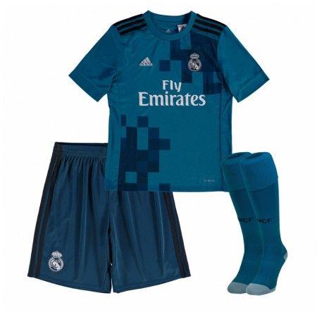 Real Madrid Tredje trøje Børn 17-18 Kort ærmer #Billige Fodboldtrøjer