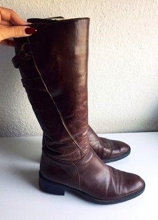 Kaufe meinen Artikel bei #Kleiderkreisel http://www.kleiderkreisel.de/damenschuhe/stiefel/138373406-stiefel-hoch-braun-schwarz-39-leder-herbst-winter-dunkel-dunkelbraun-absatz