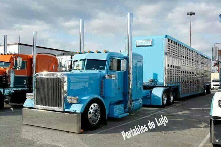Big Rigs For Sale >> Peterbilt 379 cattle hauler | Trucking & Cattle Trucks | Pinterest | Peterbilt 379, Cattle and ...