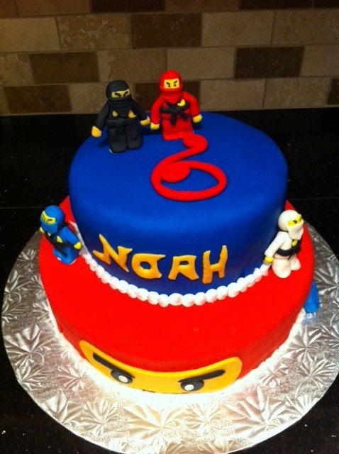 Lego Ninjago Cake Our Cakes Cupcakes Ninjago Cakes