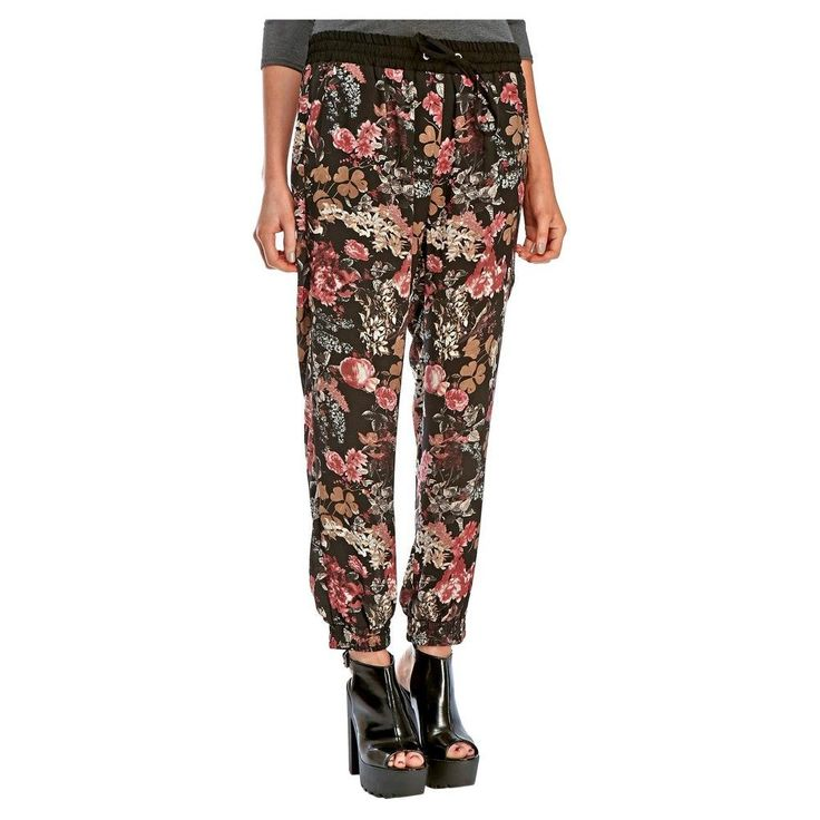 Women's Black Floral Jogger Pant 2 - Fashion Union
