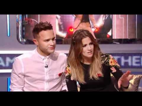 One Direction on the Xtra Factor with Caroline Flack and Olly Murs.