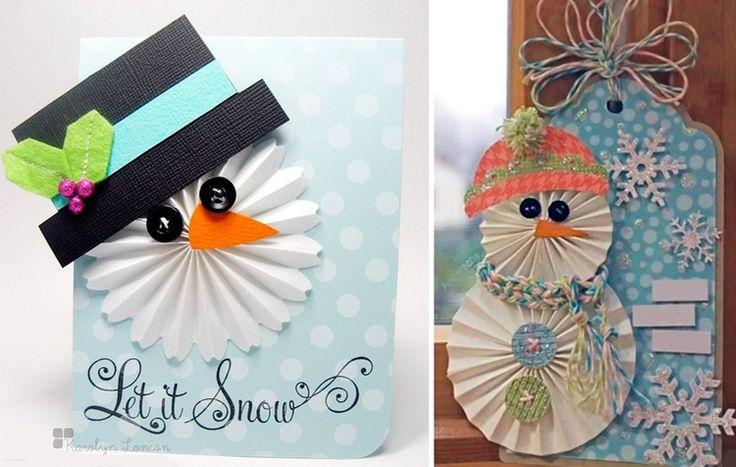 Сестре что, открытка своими руками снеговик