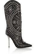 Versace | Studded leather boots | NET-A-PORTER.COM My dream boots