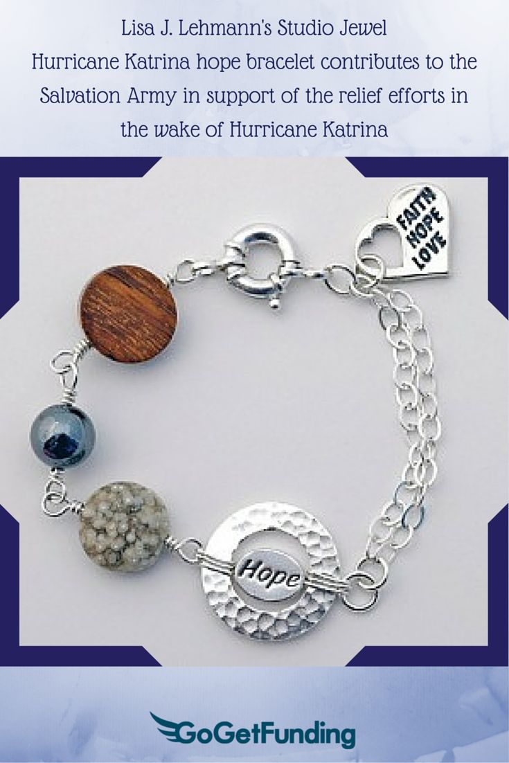 Sufferers wear copper jewelry in the hopes of easing symptoms - Hurricane Katrina Hope Bracelet Contributes To The Salvation Army In Support Of The Relief Efforts In