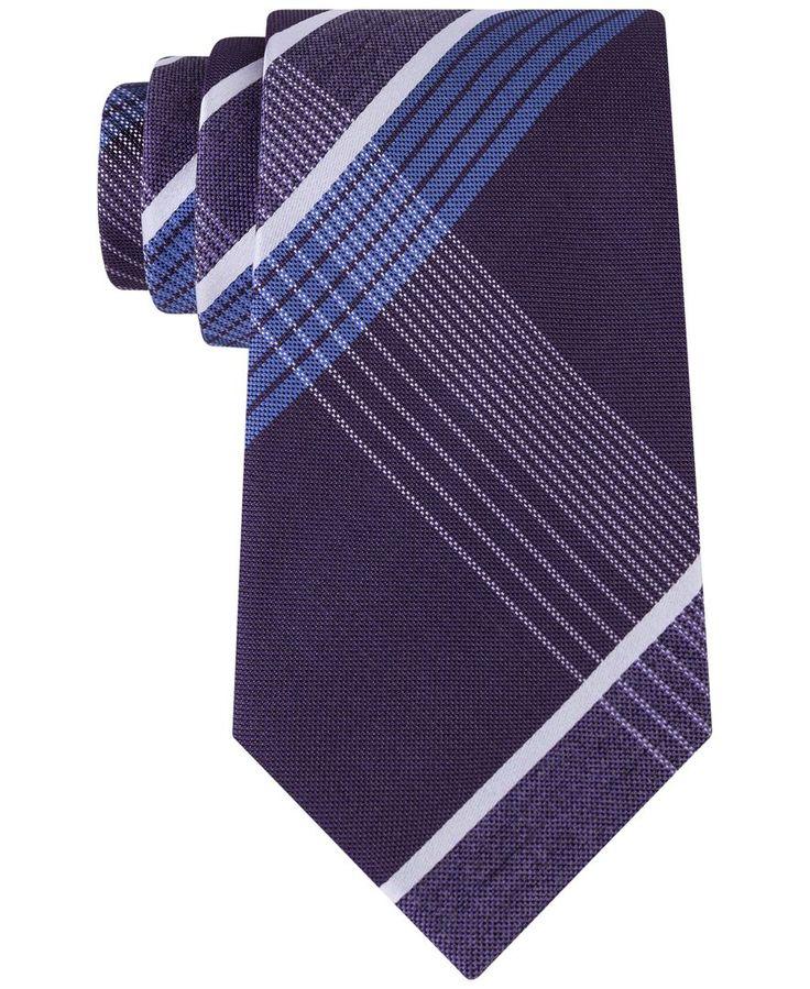 Kenneth Cole Reaction Men's Monte Bianco Plaid Tie
