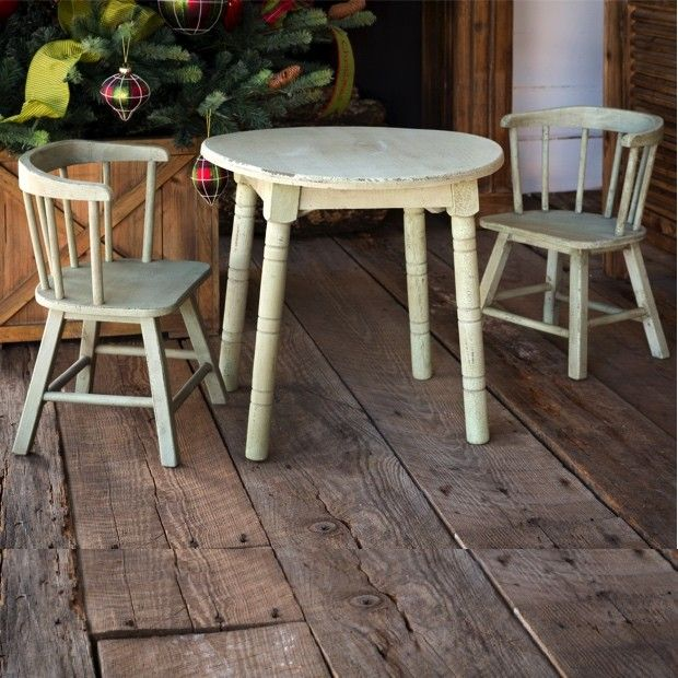Small Table And Chairs Part - 25: Old Paint Small Table And Chairs (just Like Ur Table)