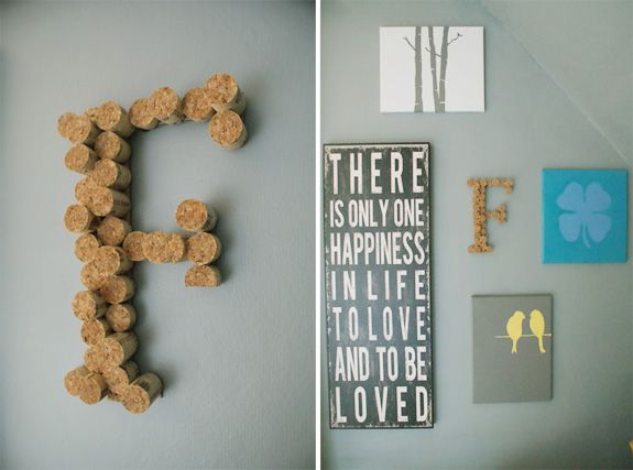Cork Letters DIY: Wine Bottle Corks, Corks Cut, Loved Home Decor, Happiness, Baby Rooms, Wax Wine Corks, To Be Loved