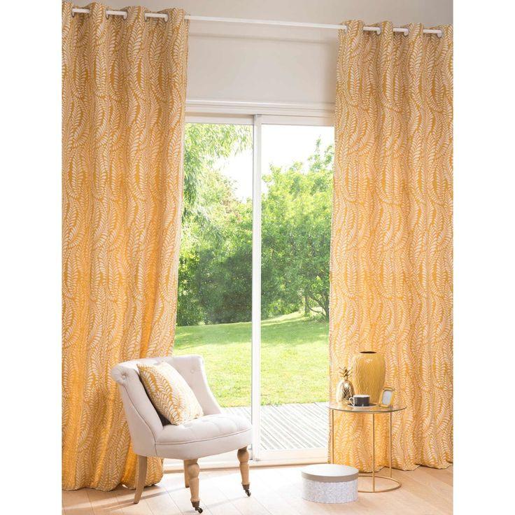 TIVOLI yellow eyelet curtain with ...